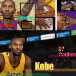 Kobe Bryant Fingertape & Dwight Howard Sleeves Patches for NBA 2K11