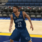 Memphis Grizzlies NBA 2K11 home and away jersey patches