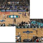 New Orleans Hornets Court Patches for NBA 2K9 V2