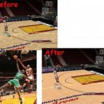 Miami Heat Court Patches for NBA 2K9