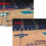 New Orleans Hornets Court Patches for NBA 2K9 V3