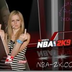 Two Avril Lavigne Startup Screens for NBA 2K9