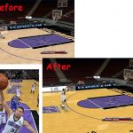 Sacramento Kings Court Patches for NBA 2K9