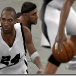 Kobe Bryant with Right Fingerstraps for NBA 2K10