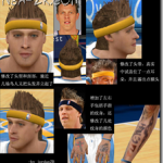 NBA 2K9 Chris Andersen Cyperface Patch with Tattoo