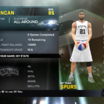 NBA 2K11 San Antonio Spurs Starting Lineup My Player Patches